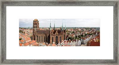Cathedral In A City, St. Marys Church Framed Print