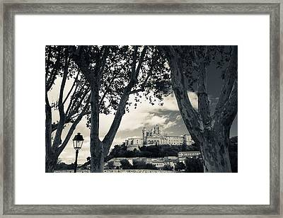 Cathedral In A Town, Cathedrale Framed Print