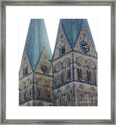 Cathedral In Bremen Framed Print