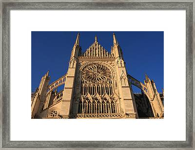 Cathedral In Evening Light Framed Print by Aidan Moran