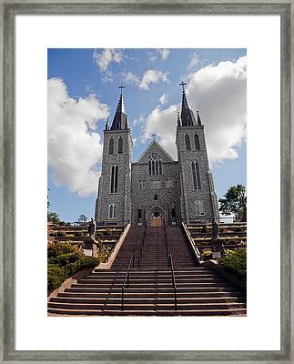 Framed Print featuring the photograph Cathedral In Midland Ontario by Marek Poplawski
