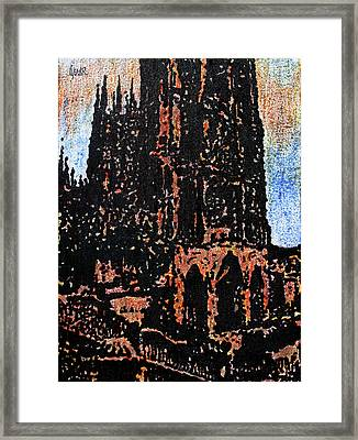 Cathedral In Spring Framed Print by Oscar Penalber