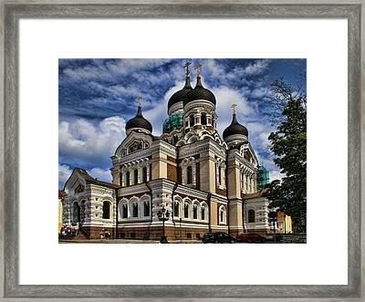 Cathedral In Tallinn Framed Print by David Smith