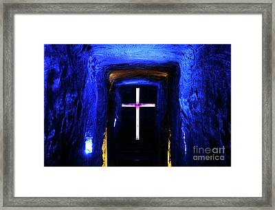 Cathedral In The Salt Mine Framed Print by John Rizzuto