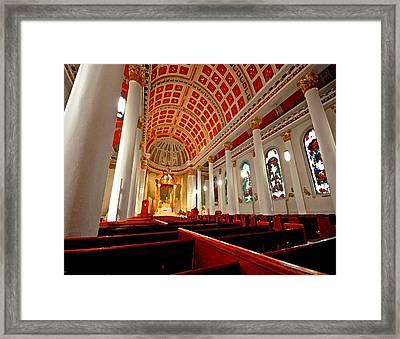 Cathedral Inside Framed Print