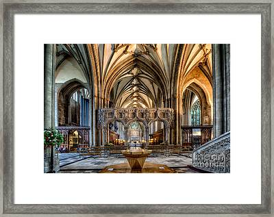 Cathedral Interior Framed Print by Adrian Evans
