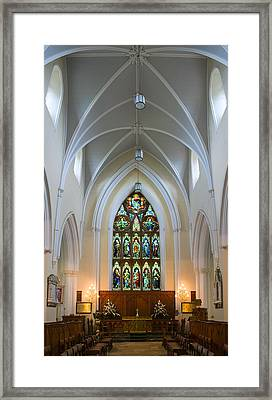 Cathedral Interior Framed Print by Jane McIlroy