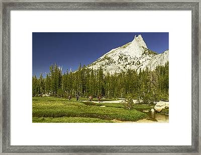 Cathedral Lakes-yosemite Series 17 Framed Print by David Allen Pierson