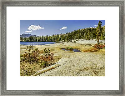 Cathedral Lakes-yosemite Series 18 Framed Print by David Allen Pierson