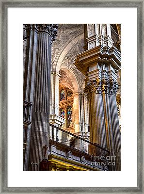 Cathedral Malaga Spain Framed Print by Rene Triay Photography