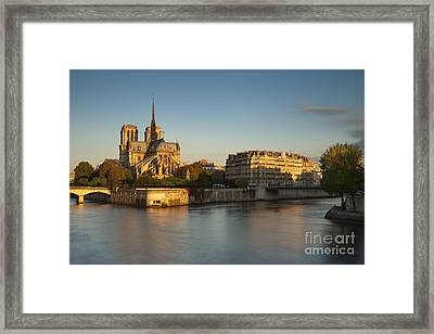Cathedral Notre Dame - Sunrise Framed Print by Brian Jannsen