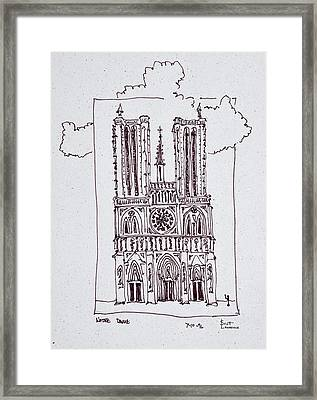 Cathedral Notre-dame De Paris, Ille De Framed Print