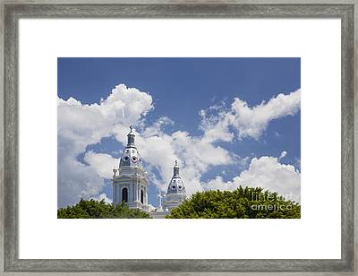 Framed Print featuring the photograph Cathedral Nuestra Senora De Guadalupe In Ponce by Bryan Mullennix