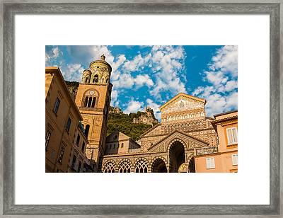 Cathedral Of Amalfi Framed Print by Gurgen Bakhshetsyan