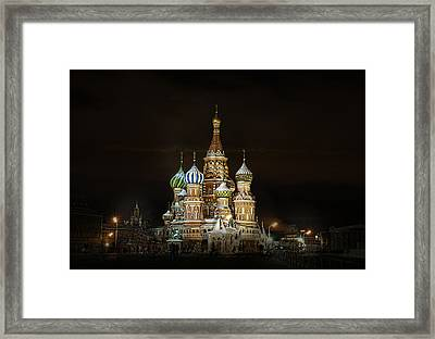 Framed Print featuring the photograph Cathedral Of Basil The Blessed by Gouzel -