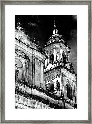 Cathedral Of Bogota Framed Print by John Rizzuto