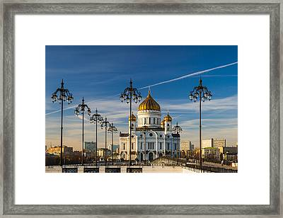 Cathedral Of Christ The Savior 3 - Featured 3 Framed Print by Alexander Senin