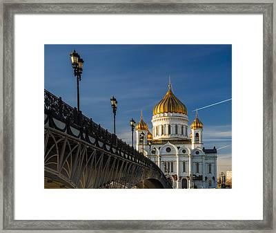 Cathedral Of Christ The Savior In Moscow - Featured 3 Framed Print by Alexander Senin