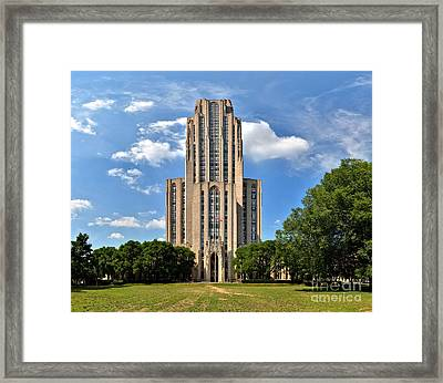 Cathedral Of Learning Pittsburgh Pa Framed Print by Adam Jewell