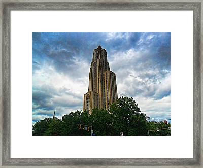 Cathedral Of Learning Framed Print by S Patrick McKain
