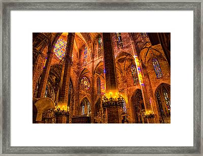 Cathedral Of Light - Majorca Spain Framed Print