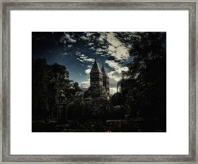 Cathedral Of Lund Framed Print by Ramon Martinez