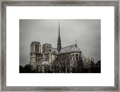 Cathedral Of Notre Dame De Paris Framed Print by Marco Oliveira