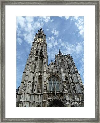 Cathedral Of Our Lady Antwerp Belgium Framed Print
