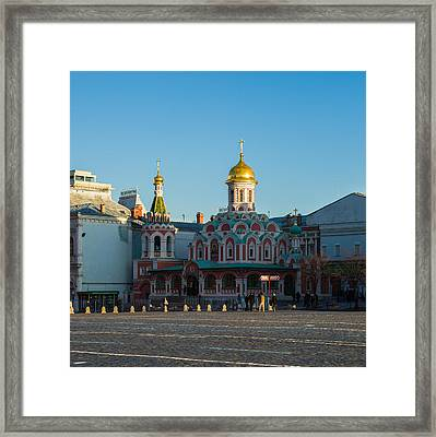 Cathedral Of Our Lady Of Kazan - Square Framed Print by Alexander Senin