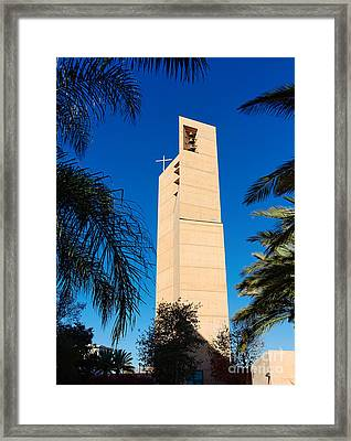 Cathedral Of Our Lady Of The Angels Framed Print by Jamie Pham