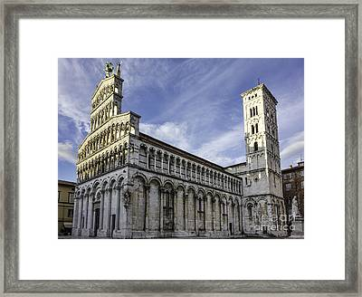 Cathedral Of Saint Michele Lucca Framed Print