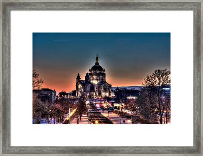 Cathedral Of Saint Paul Framed Print by Amanda Stadther