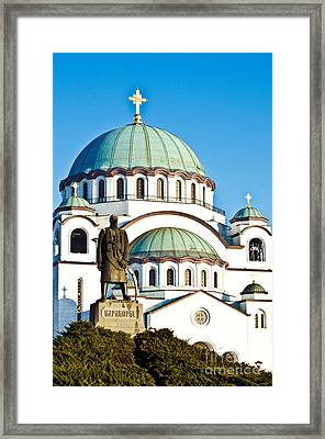 Cathedral Of Saint Sava Framed Print