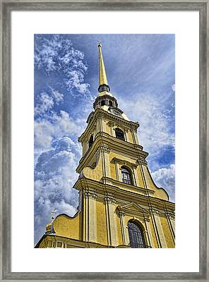 Cathedral Of Saints Peter And Paul - St. Persburg Russia Framed Print