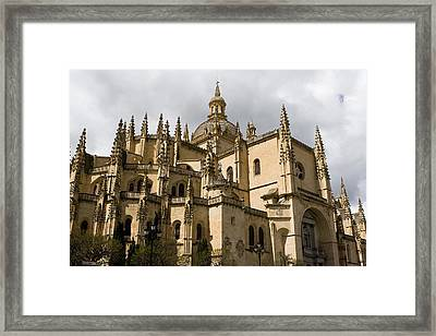 Cathedral Of Segovia Framed Print by Lorraine Devon Wilke