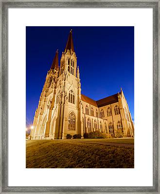 Morning At The Cathedral Of St Helena Framed Print