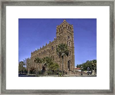 Cathedral Of St. John The Baptist Charleston Framed Print by Lynn Palmer