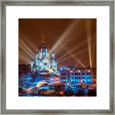 Cathedral Of St Paul Ready For Red Bull Crashed Ice Framed Print by Paul Freidlund