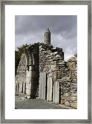 Cathedral Of St Peter And St Paul Ruin Framed Print by Christiane Schulze Art And Photography