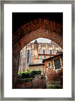 Cathedral Of Ste-cecile In Albi France Framed Print by Elena Elisseeva