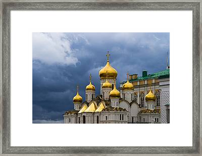 Cathedral Of The Annunciation Of Moscow Kremlin Framed Print by Alexander Senin