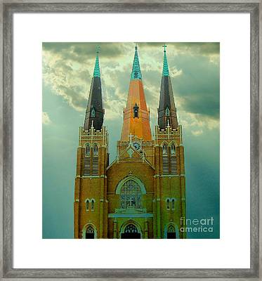 Cathedral Of The Holy Family  Framed Print by Janette Boyd