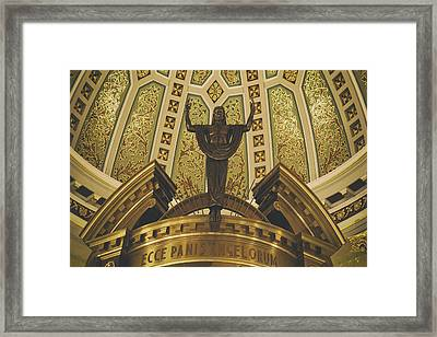Cathedral Of The Immaculate Conception Detail - Mobile Alabama Framed Print