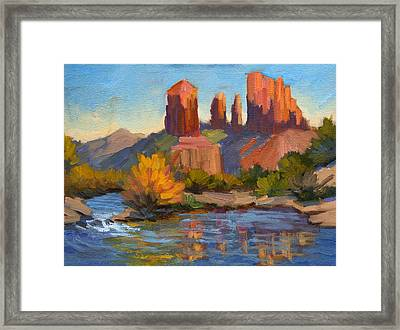 Cathedral Rock 2 Framed Print by Diane McClary