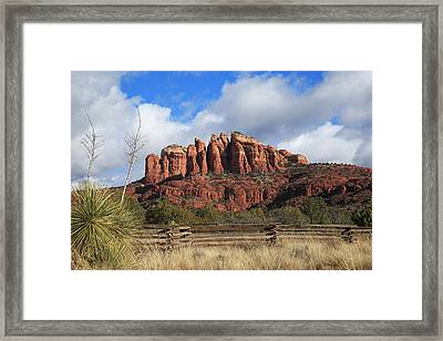Cathedral Rock- Back Side Framed Print by Donna Kennedy