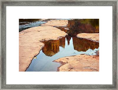 Cathedral Rock Framed Print by Bob Phillips