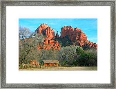 Cathedral Rock Cabin Framed Print by Robert Matus