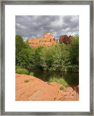 Cathedral Rock Vertical Framed Print by Carol Groenen