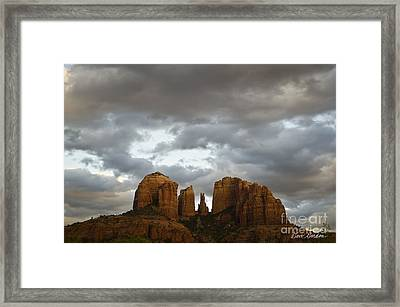 Cathedral Rock Framed Print by David Gordon