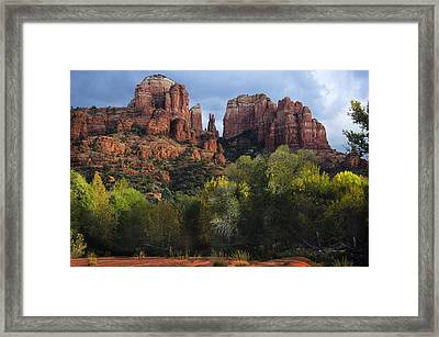 Cathedral Rock Fall Colors Framed Print